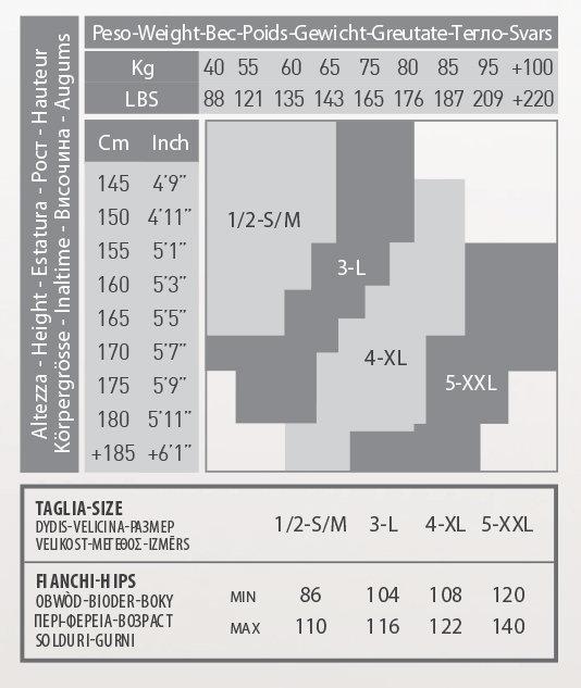 Zeķbikses PUSH UP 20 den Īpašais izmērs 5/XXL