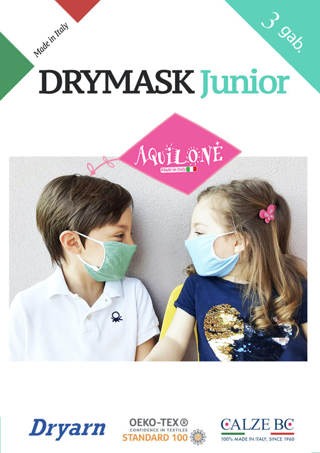 DRYMASK - Mutes un deguna aizsegs bērniem (5-11 gadi), 3 gab. iepakojumā DONNA BC