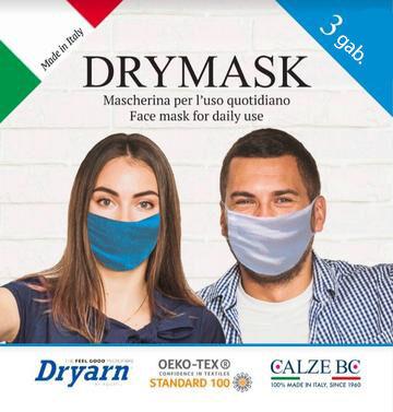 DRYMASK - Mutes un deguna aizsegs pieaugušajiem 3 gab. iepakojumā DONNA BC