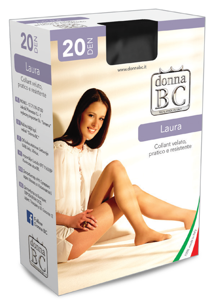 Zeķbikses /kastītē/ LAURA 20 Den DONNA BC