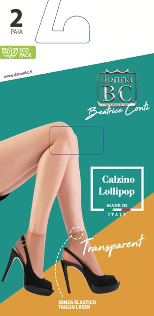 Īszeķes Lollipop Transparent 2 pāri iepakojumā DONNA BC